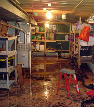 a flooded home in Palo Verde